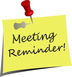 Reminder – Vendor Meeting